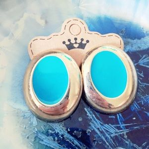 Turquoise and Gold Vintage Earrings